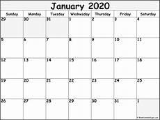 2020 17 Blank Calendar January 2020 Calendar Free Printable Monthly Calendars