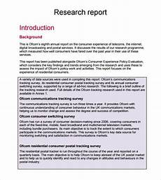 Research Report Example Free 7 Sample Research Reports In Pdf