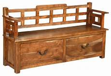 living concepts solid wood storage sofa bench