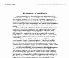 Animal Testing Essays The Controversy Of Animal Testing Gcse English Marked