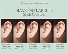 Stud Earring Size Chart Diamond Stud Size Guide Which Diamond Size Is Right For