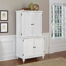 home styles brushed white bermuda compact computer cabinet