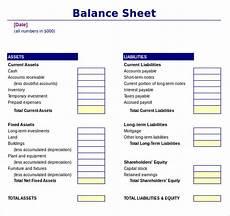 Sample Excel Balance Sheet Free 20 Sample Balance Sheet Templates In Ms Word Pdf