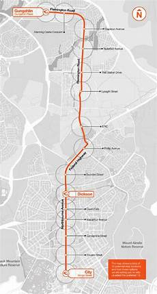Colombo Light Rail Route Map 05 Canberra S Light Rail Project Stage 1 Route Map