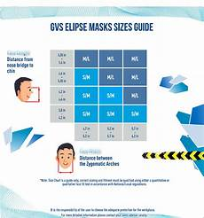 Respirator Mask Size Chart Gvs Elipse Spr467 Amp Spr466 Ov P100 Respirator With