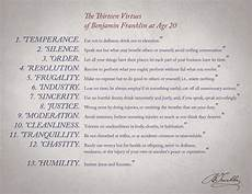 Benjamin Franklin Virtues Chart Benjamin Franklin How Keeping A Journal Leads To A Better