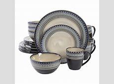 GIBSON elite Magello 16 Piece Cream Color Dinnerware Set