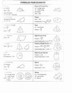 Geometric Formula Geometry Formulas Mr Siderer S Weblog