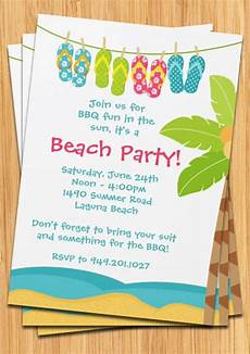 Summer Party Invitations Templates Summer Beach Party Invitation