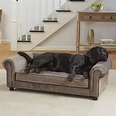 enchanted home pet grey velvet manchester pet sofa petco