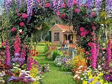 Flower Wallpaper Garden by Beautiful Flower Garden Wallpaper Hd Free Photos Cool