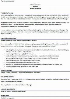 Payroll Administrator Cover Letter Payroll Administrator Cv Example Icover Org Uk