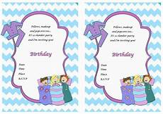 Sleepover Invitation Printable Sleepover Birthday Invitations Birthday Printable