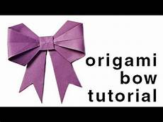 How To Fold Ribbon Origami How To Fold A Paper Bow Ribbon Paper Kawaii