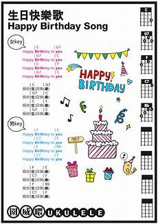 Happy Birthday Ukulele Chords 圍威喂 Ukulele 生日快樂歌 Happy Birthday Song Ukulele譜