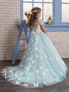 sleeve lace butterfly flower dress tbdress