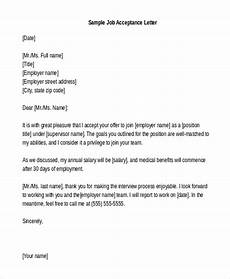 acceptance letter free 8 sample job acceptance letters in pdf ms word