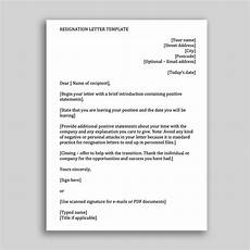 Letter Format For Word Job Resignation Letter Template For Employees In Ms Word