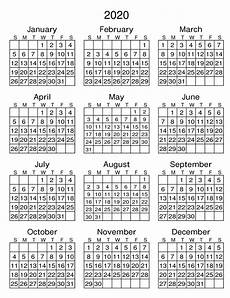 Printable 2020 12 Month Calendar 12 Month Printable Calendar 2020 With Notes Net Market