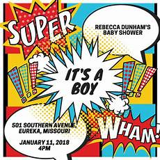 Superhero Invite Template Customize 100 Superhero Invitation Templates Online Canva