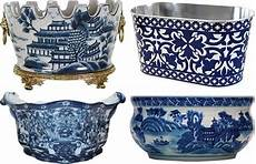 Alterations By Carla Willow Designs Blue And White Chinoiserie Oval Vases Blue And White