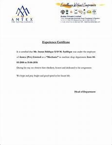 Service Certificate Model Experience Certificate Sample Format Certificate Format