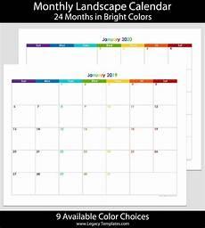 24 Month Planner 2019 Amp 2020 24 Month Landscape Calendar 8 5 X 11