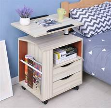 modern multifunctional swivel movable bedside table laptop
