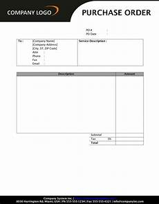 Purchase Ms Word Purchase Order Sd1 Style