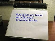 Small Flip Chart Diy Binder Into A Flip Chart Flip Chart Diy Binder