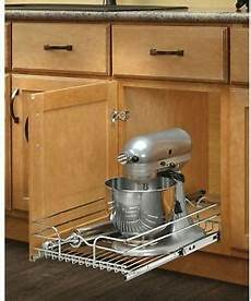 sliding pull out chrome wire basket base kitchen cabinet