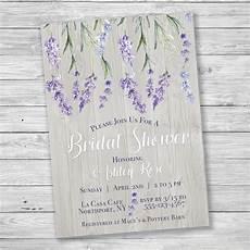 lavender rustic wood bridal shower invitation printable