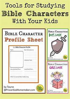 Printable Bible People Tools For Studying Bible Characters With Your Kids
