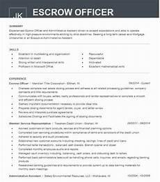Escrow Officer Resume Escrow Officer Resume Sample Officer Resumes Livecareer