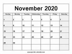 November 2020 Calendar Printable Free Blank Printable November Calendar 2020 Template Free