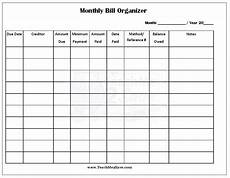 Template For Bills Free Printable Monthly Bill Organizer Funtastic Life