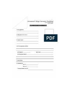 Biodata Form Download Bio Data Form Docx
