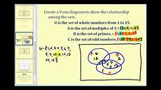 Venn Diagram Sets Calculator Set Operations And Venn Diagrams Part 2 Of 2 Youtube