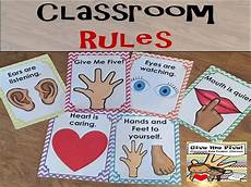 Give Me Five Rules Classroom Rule Posters Chevron Give Me Five Teaching