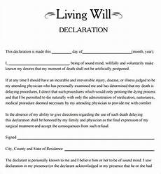 Free Downloadable Will Forms Living Will Template 8 Download Free Documents In Pdf