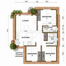 medium 3 bedroom home with 2 bathrooms option 2 70m2