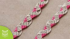 macrame pink friendship band pulseira