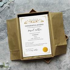Gift Certificate Paper First 1st Anniversary Paper Gift Husband Certificate By