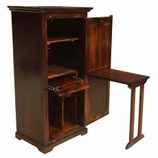 solid wood computer hutch desk storage cabinet