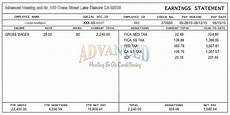 Pay Stub Sample Pay Stub Example Template Business