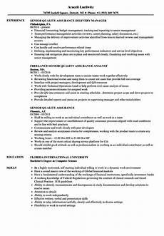 Quality Assurance Resume Samples Senior Quality Assurance Resume Samples Velvet Jobs