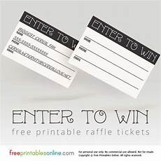 Wording For Raffle Tickets Enter To Win Printable Raffle Tickets Everything About