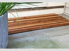 How to Make a Wood Slat Doormat   how tos   DIY