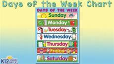 Printable Days Of The Week Chart Best Kids Posters Days Of The Week Chart Teacher