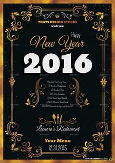 New Years Template New Year Menu Template V1 Graphicriver